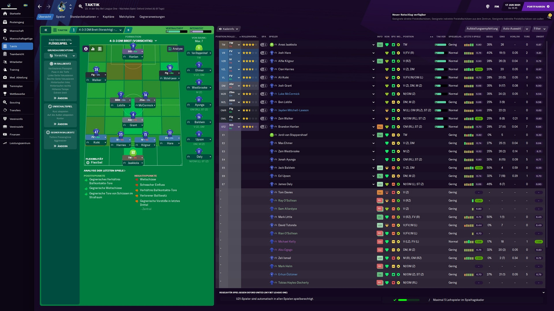 Football Manager 2021 Test